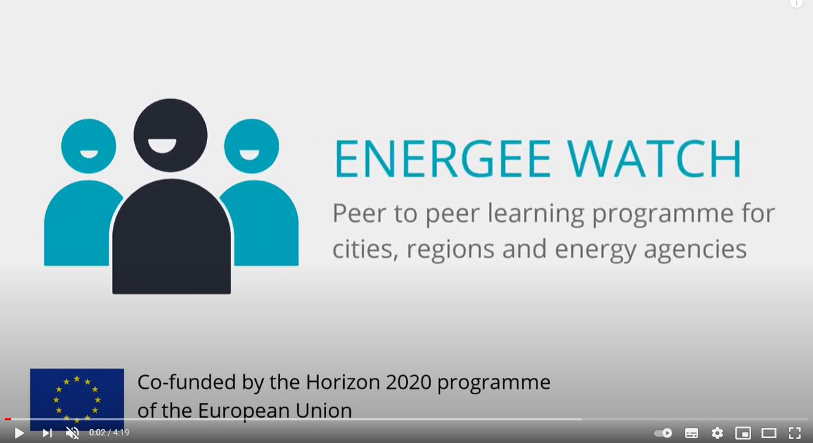 Watch the ENERGee WATCH project video presentation !